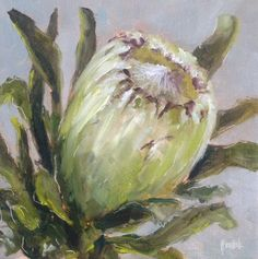 """Protea daily painting by Heidi Shedlock Protea Art, Protea Flower, Australian Native Flowers, South African Artists, Gouache Painting, Painting Lessons, Abstract Oil, Beautiful Paintings, Vintage Flowers"