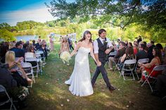 """Have a Fun Recessional  You're married, time to celebrate! Choose upbeat music for this exciting time (we're suckers for Stevie Wonder's """"Signed Sealed Delivered""""). And if your venue allows, you can ask your guests to toss confetti or pom poms, blow bubbles, or wave ribbon wands or flags."""