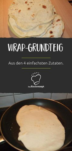 Wrap-basic dough Wrap-Grundteig Why buy when it tastes a lot better homemade? You only need four ingredients and a little time for the homemade wraps. Then fill as desired, roll, done! Sandwich Recipes, Snack Recipes, Dessert Recipes, Picnic Sandwiches, Breakfast Sandwiches, Healthy Eating Tips, Healthy Nutrition, Homemade Wraps, Vegetable Drinks