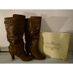 New Charles Albert Slouchy buckle boots Brand new boots ships with box. Color - chestnut Charles Albert Shoes Heeled Boots