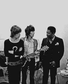 Mick Jagger and Keith Richards with B.B.King, 70s  ~  another photo