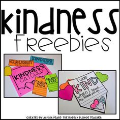 Kindness Freebie by The Bubbly Blonde Elementary Counseling, School Counselor, Elementary Schools, Career Counseling, Teaching Kindness, Kindness Activities, Classroom Behavior, Classroom Management, Classroom Ideas