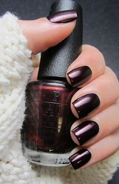 A manicure is a cosmetic elegance therapy for the finger nails and hands. A manicure could deal with just the hands, just the nails, or Opi Nail Polish Colors, Fall Nail Colors, Opi Nails, Dark Colors, Nail Polishes, Winter Colors, Opi Polish, Winter Nails Colors 2019, Dark Nail Polish