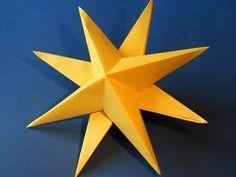 Sterne basteln für die Baumspitze