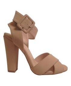 Bamboo nude Senza sandal on Zulily.