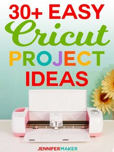 Get my collection of easy Cricut project ideas you can make for free! Lots and lots of fun Cricut ideas that are great for beginners and look amazing! Includes tips and tricks for getting started with Cricut, too. Proyectos Cricut Explore, Cricut Air 2, Cricut Help, Cricut Apps, Cricut Mat, Cricket Crafts, Cricut Explore Projects, Do It Yourself Jewelry, Cricut Craft Room