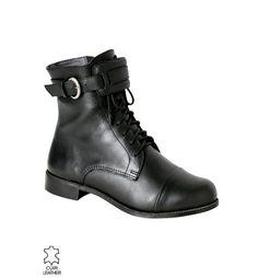 Oficerki damskie czarny - Promod