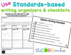Using standards-based organizers and checklists for more cohesive writing.