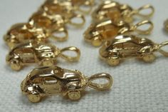 Lot of 10 Volkswagen Car Charm/Pendant Quality Gold Plated VW