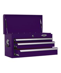 Loving this Purple Three-Drawer Steel Tool Chest on #zulily! #zulilyfinds  $179.99