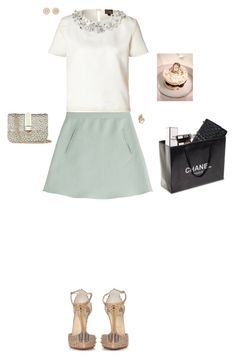 """Afternoon shopping with the friend."" by stylev ❤ liked on Polyvore featuring Valentino, Giambattista Valli, Cartier, Chanel, Christian Louboutin and Nam Cho"