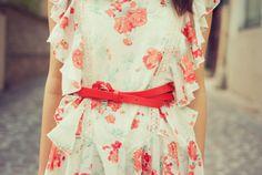 sweet dress with pretty belt