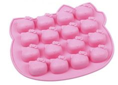 ALVA Home 16 even KT cat pink Silicone Cake Design Moulds 5pcsno.CM02 -- Wow! I love this. Check it out now! : Small Pastry Molds