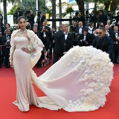 Actress Sonam Kapoor was fashion's caped crusader on her second day at the ongoing Cannes Film Festival.