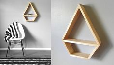 ▲▲▲ GEOMETRIC DIAMOND SHELF ▲▲▲    Make your walls happy with this gorgeous, geometric inspired shelf! This shelf is the perfect size to fit a few