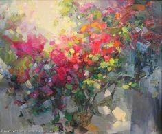 Bougainvillea - oil, canvas