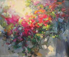 Bougainvillea - oil, canvas