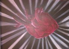 """bleeding heart"" acrylique sur toile"
