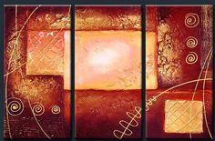 Cuadros Modernos Pinturas : Cuadros Trípticos Abstractos Modernos