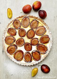 Plum Tart with Pastry Creamand a hint of cinnamon -- Tarta ze śliwkami i kremem pâtissière. Z nutą cynamonu   ArtKulinaria