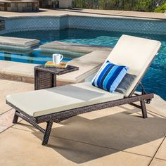 chaise lounge set kasia collection with beige cushion and cshaped table great accent for patio overall h x w x d fully reclined depth or length u0027u0027
