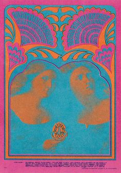 Chambers Bros. - Iron Butterfly classic rock concert poster psychedelic