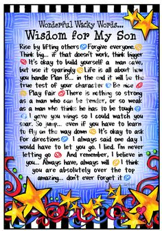 F971 - Wisdom for My Son - 8x10 Gifty Art 1
