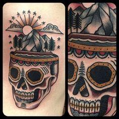 Skull Tattoo Matt Houston