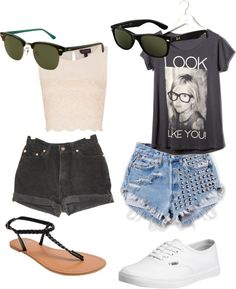 """""""summer looks"""" by eleanorcalderperfection ❤ liked on Polyvore"""