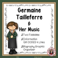 Introduce your young music students to female composer Germaine Taillferre and her music. This is an excellent addition to your Listening lessons! This resource contains: - TWO different FOLDABLES in BOTH COLOR AND B/W. - This foldable is a perfect accompaniment to foldable 1, or can be used on its own to respond to Germaine Taillferre's music during a listening lesson Get it here: #mtr #musicteacher #musiced #musiceducation #musicteacherresources