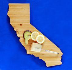 Custom Initial Engraved Wood Cutting Board 7x13 Plank by AHeirloom