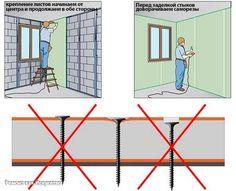 Как обшить гипсокартоном стены: пошаговая инструкция    Листы гипсокартона – наиболее удобный и простой в использовании материал для выравнивания любых вертикальных или горизонтальных поверхностей. Монтаж гипсокартона на стены не требует какой-либо специальной подготовки, однако, зная общую технологию и последовательность работ, можно избежать наиболее распространенных ошибок.    Как обшить гипсокартоном стены правильно? Перед началом работы стоит позаботиться о необходимом инструменте…