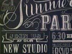great typography for chalkboard wall