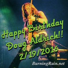 Happy birthday Doug Aldrich 2016