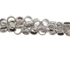 Pewter Silver 7mm Spacer/Bead Frame Strand
