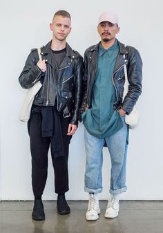 """Connor,23Sebastian,25Connor: """"I love experimenting with proportion and layering and I like to feel confident in what I'm wearing. I try to put some thought into how I style myself, but also let ideas just come together on their own in some ways.""""Sebastian: """"My style is inspired by masculine and feminine energy. It's is critically inspired by my personality. It is a unique butch kween aesthetic, inspired and inevitably exacerbated by contemporary avantgarde fashion design and accessible…"""