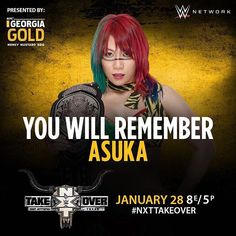 wwenxt #NXTWomensChampion @wwe_asuka looks to leave #NXTTakeOver: San Antonio with her undefeated streak in tact TONIGHT on @wwenetwork! #Fatal4Way  2017/01/29 06:41:11