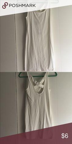Cross back bodycon dress Forever 21 white bodycon dress with cross back. Never worn. NWT. Forever 21 Dresses Mini