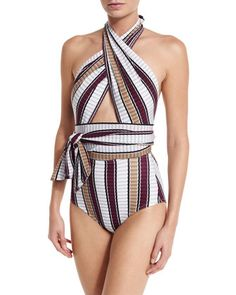 Palazzo+Cross-Halter+One-Piece+Swimsuit+by+Karla+Colletto+at+Neiman+Marcus.