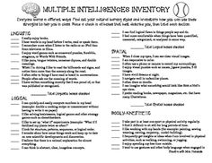 image about Printable Multiple Intelligence Test for Adults referred to as 33 Simplest Many Intelligences Stock pictures within 2017