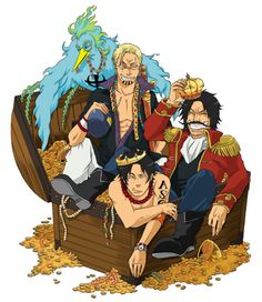 Gol D. Roger Silvers Rayleigh Portgas D. Ace Marco the Phoenix