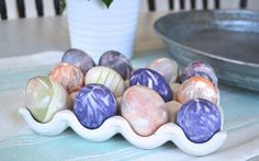 How to Dye Easter Eggs with Old Ties | AllFreeKidsCrafts.com