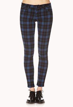 Plaid Skinny Jeans | FOREVER21 - 2000074330