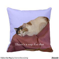Calico Cat Nap Throw Pillows