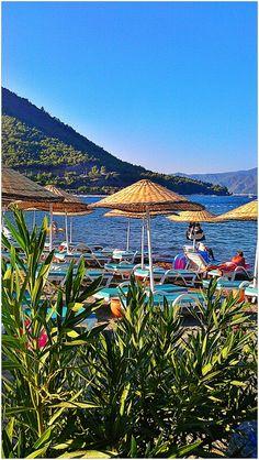 Icmeler beach in Turkey  )