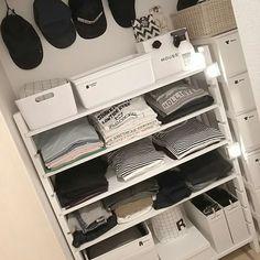 an-naさんの、棚,モノトーン,クローゼット収納,白黒インテリア,のお部屋写真