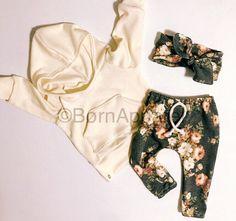 Baby Mädchen Outfit / baby-Mädchen Kleider / floralen Drucken