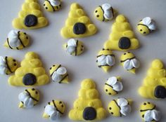 Edible royal icing bees and beehives  by SweetSarahsBoutique, $10.00 *************************************************The ones to buy!!!!!!!!!!!!!!!!!!!!!!!!!!!!!!!!!!!!!!!!!!!!!!!!!!!!!!!!!!