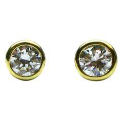 CARTIER Diamond Ear Studs in Yellow Gold #cartier #jbirnbach