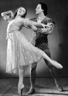 Г. Уланова (Джульетта) и Ю. Жданов (Ромео) в балете «Ромео и Джульетта», 1.10.1954